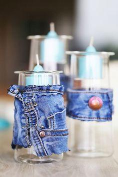 DIY recycler un vieux jean ! #jean #diy #atelier #deco #partylite #atelierdeco