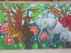 little acorns pre school playground mural by lisa temple-cox, via Flickr