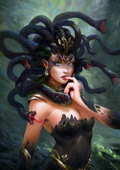 Foto of Medusa for Fans of Fantasy 40891668 Medusa Kunst, Medusa Art, Medusa Gorgon, Medusa Tattoo, Dark Fantasy Art, Dark Art, Fantasy Character Design, Character Inspiration, Character Art