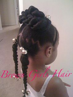Photos: 15 little girl& hairstyles for kinky hair Lil Girl Hairstyles, Natural Hairstyles For Kids, Princess Hairstyles, Braided Hairstyles, Natural Hair Styles, Braided Ponytail, Updo Hairstyle, Wedding Hairstyles, Natural Updo