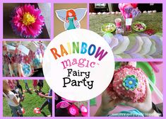 Pinning with Purpose: Rainbow Magic Fairy Party – decorations and activities Magic Birthday, Fairy Birthday Party, Rainbow Birthday, Birthday Parties, Birthday Ideas, Girl Parties, 7th Birthday, Fairy Party Games, Fairy Tea Parties