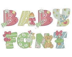 Baby Embroidery Design Machine Embroidery - 2 Sizes - Instant download