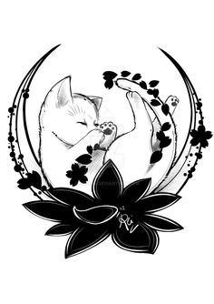 Kitten Tattoo by eREIina.deviantart.com on @DeviantArt