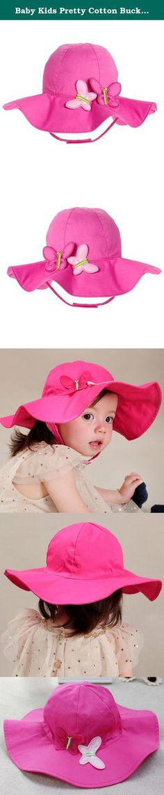 10765bcb4d60f4 Baby Kids Pretty Cotton Bucket Cap Summer Spring Fall Outdoor Indoor Hat  Pageant Party Birthday Christmas