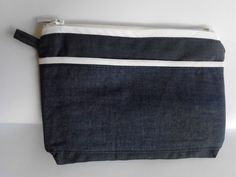 Items similar to soft dark blue denim and white cotton, zippered pourse, big outside pocket, linen on Etsy White Cotton, Blue Denim, Dark Blue, My Etsy Shop, Zipper, Pocket, Trending Outfits, Unique Jewelry, Handmade Gifts