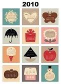 kalender : Abbildung der bunte Stil Design Kalender für 2010 Illustration
