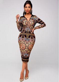 Elegant Outfit, Elegant Dresses, Necklines For Dresses, Dresses With Sleeves, Party Dress Sale, Wine Red Dress, Latest Dress For Women, Tribal Print Dress, V Neck Dress