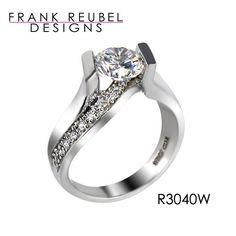 Frank Reubel Engagement Ring #ModernByMegeanContemporaryJewelry