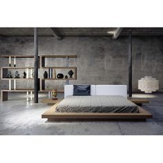 Modloft Worth Platform Bed | AllModern. Minimalist style is one of the crowning architectural achievements of the 20th century. Minimalism is charming in almost any space. Simplicity and elegance in furniture and decor choices. Check out http://www.pinterest.com/homedsgnideas/ for more amazing ideas.