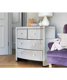 Buy Heart Of House Canzano 4 Drawer Mirrored Chest At Argos Co Uk