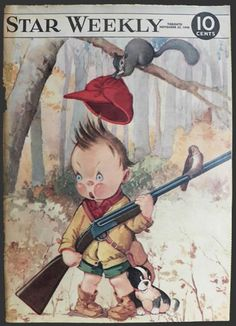 1948 Star Weekly Cover ~ Boy Hunts with Dog ~ Charles Twelvetrees