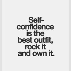 Words for the week: Self confidence is the best outfit, rockit and own it. #inspiration #confidence #modelfit #bbmodelfit #wisewords #empowered @bbmodelfit on instagram