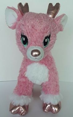 Build a Bear Workshop Pink Twinkle Deer Reindeer Plush Stuffed Animal #BuildABearWorkshop Leopard Outfits, Orange Candy, Red Nosed Reindeer, Friend Outfits, Sanrio Hello Kitty, Build A Bear, Pink Leopard, Twinkle Twinkle, Workshop