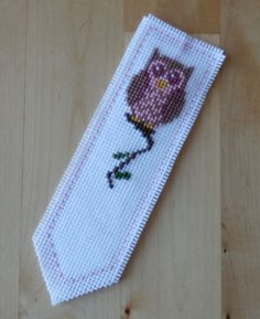 Owl cross stitch bookmark