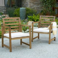 Bay Isle Home Tuliptree Outdoor Arm Chair with Cushion
