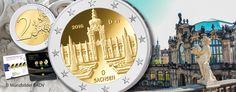 """BRD 2 Euro-Gedenkmünze 2016 """"Serie Bundesländer – Sachsen: Dresdner Zwinger"""""""