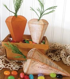 Perfect for hiding Easter candy // DIY Easter Carrot Box Craft from Joann.com