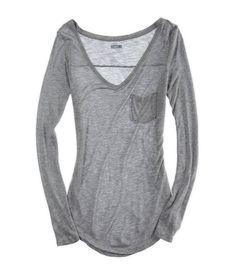 Comfiest Tshirt - Dark Heather Grey - Aerie $22.95