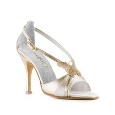 SANDALO PANNA E #PLATINO 900_100/3, Wedding & Gala ----- CREAM AND #PLATINUM SANDAL 900_100/3, Wedding & Gala ----- #Paoul #weddingshoes #galashoes #shoes #womenshoes