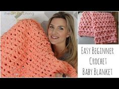 Easy Beginner Crochet Baby Blanket Tutorial - YouTube (Courtesy of iheartstitching)