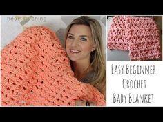 Easy Beginner Crochet Baby Blanket Tutorial - YouTube (Courtesy of iheartstitching)