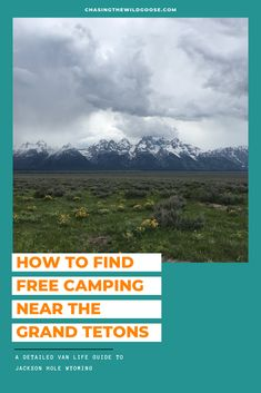 The Ultimate Guide to Vanlife in Jackson Hole, Wyoming. Learn the best free campsites in the Grand Tetons, dog-friendly hikes, and more! The Wild Geese, Teton Mountains, Alaska Travel, Alaska Cruise, Jackson Hole Wyoming, Life Guide, Us Road Trip, Viewing Wildlife, Tennessee Vacation