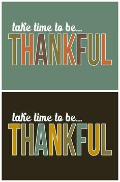 FREE PRINTABLE - BE thankful print