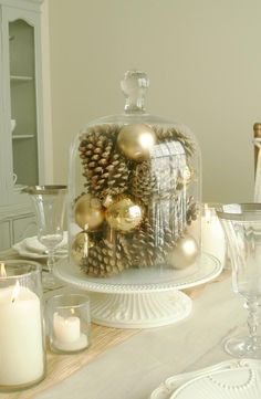 Christmas table - I need to fill my bell-domed cake stand!