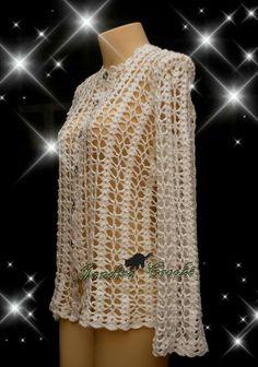 blusa em crochê,. https://www.facebook.com/jandirabxgcroche/