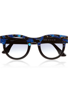 90b4d2c111653c Handmade Black acetate, blue and bronze detail Graduated gray lenses 100%  UV protection Designer