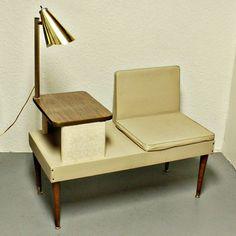 Vintage telephone seat