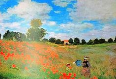 Claude Monet Field Of Poppies (Les Coquelicots) 1873 Original Lithograph