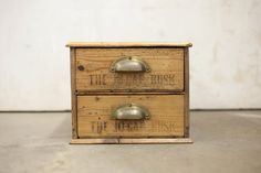 Vintage English Stamped Cutlery Box by TheParsonsPleasures on Etsy, $250.00