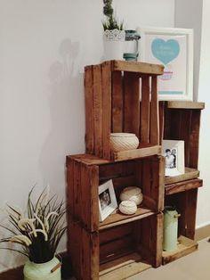 Decoración con cajas de madera. #deco #pallets