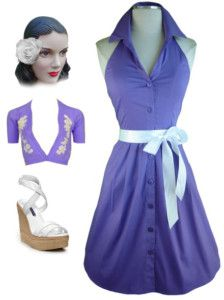 Lavender pin up