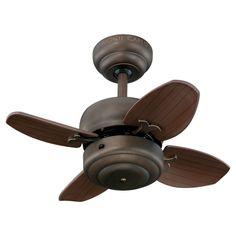 Monte Carlo 4MC20RB 20-Inch 4-Blade Mini Ceiling Fan, Roman Bronze - - Amazon.com Laundry