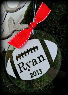 Football Ornament Personalized for Christmas Decor for the Holidays Keepsake on Etsy, $12.95