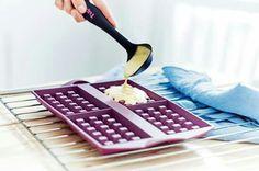 Silicone waffle maker! Awesome!