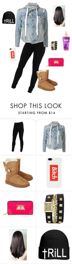 """Untitled #14"" by ikayla44 ❤ liked on Polyvore featuring Miraclebody Jeans by Miraclesuit, NSF, UGG Australia, Married to the Mob, Juicy Couture, Vince Camuto, OTTO and Victoria's Secret"