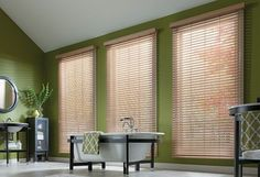 Faux Wood Blinds give you the look of wood blinds along with exceptional value for your dollar.  These blinds are our least expensive faux wood blinds, and although lighter on options, they're heavy on quality.
