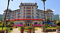 My holiday tips: Regina Palace Hotel, Stresa, Lago Maggiore, Italy just stayed here it was awesome! bass tell everyone I miss them The Places Youll Go, Places Ive Been, Monaco, Stresa Italy, Portugal, Lacs, Mediterranean Garden, Palace Hotel, France