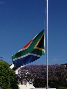 Flags at half mast to pay tribute to the life of Nelson Mandela who died December Rest in peace Madiba. Flags At Half Mast, Port Elizabeth, Nelson Mandela, Rest In Peace, South Africa, December, Life