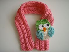 Your place to buy and sell all things handmade Crochet Scarves, Crochet Yarn, Free Crochet, Silk Scarves, Toddler Scarf, Crochet Toddler, Owl Scarf, Crochet Gifts, Lana