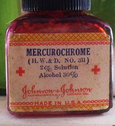 I remember this all too well. Skinned knees…mercurochrome.