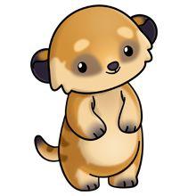 meerkat Cute Animal Clipart, Cute Cartoon Animals, Cute Clipart, Zoo Animals, Cute Animals, Cute Animal Drawings, Kawaii Drawings, Cartoon Drawings, Cute Drawings