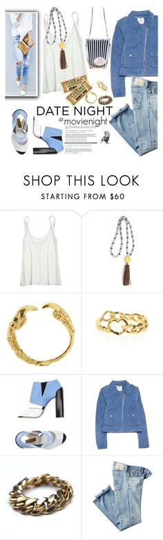 """60 Second Style: Movie Night"" by thepommier ❤ liked on Polyvore featuring Calypso St. Barth, Stephen Venezia, MANGO and AG Adriano Goldschmied"