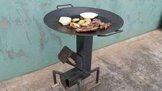 Fogão a Lenha Portátil 2 (Como Fazer e Teste) Outdoor Stove, Outdoor Fire, Outdoor Tables, Cooking Stove, Fire Cooking, Metal Projects, Welding Projects, Barbecue, Iron Steel