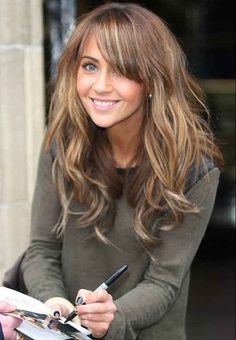 Ash brown hair color with blonde high lights