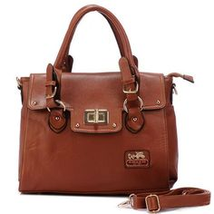 Coach Sadie Flap In Spectator Medium Brown Satchels  Crafted by hand in Saffiano leather from Italy and finished with elegant new Madison hardware, this refined, beautifully structured satchel is fully lined inside. It comes with a slender, detachable shoulder strap and secures with a classic turnlock.