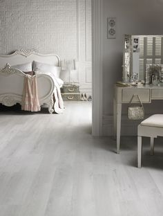 washed wood white floor